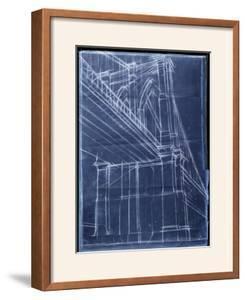 Brooklyn bridge framed posters prints and posters at art bridge blueprint ii malvernweather Choice Image