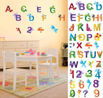 Bugs On Letters U0026 Numbers Wall Decal Sticker