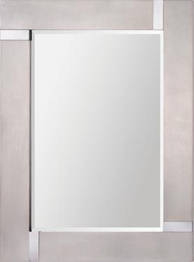 Capiz Silver Leaf Mirror