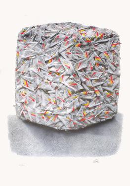 Compression de drapeaux olympiques by César Baldaccini