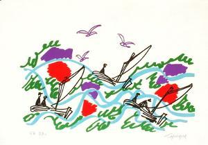 M - Le retour de la pêche by Charles Lapicque