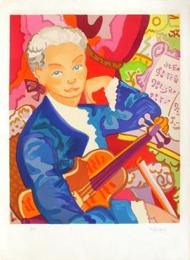 Portrait : Le jeune violoniste by Charles Lapicque
