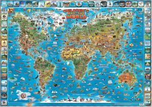 Childrens Maps Posters And Prints At Artcom - Children's maps to print