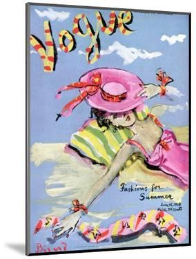 Vogue Cover - June 1939 - Sun Bathing by Christian Berard
