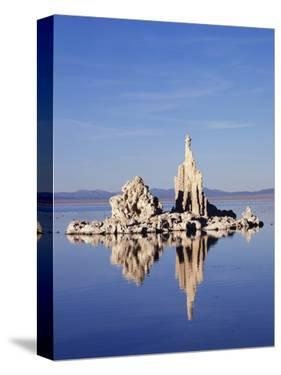 California, Sierra Nevada, Tufa Formations Reflecting in Mono Lake by Christopher Talbot Frank