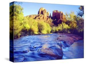 Cathedral Rock Reflecting on Oak Creek, Sedona, Arizona, USA by Christopher Talbot Frank