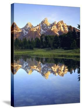 Grand Teton Mountains Reflecting in the Snake River at Sunrise, Grand Teton National Park, Wyoming by Christopher Talbot Frank