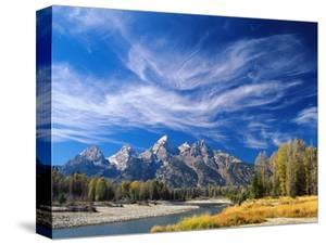 Cirrus Clouds over Teton Range and Snake River
