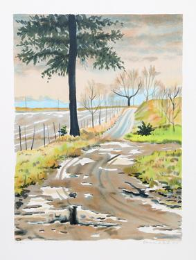 Untitled - Country Road by Clarence Holbrook Carter