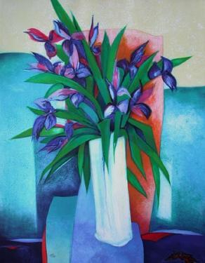 Bouquet D Iris by Claude Gaveau