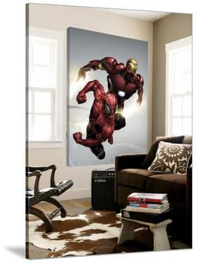 Carnage No.1 Cover: Spider-Man and Iron Man Flying by Clayton Henry