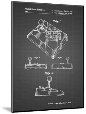 PP374-Black Grid Nintendo Joystick Patent Poster by Cole Borders