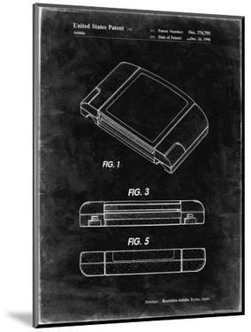 PP451-Black Grunge Nintendo 64 Game Cartridge Patent Poster by Cole Borders