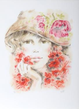 Portrait of a Girl in Hat by Colette Darfeuil
