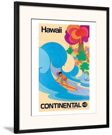 Vintage print surfing surf old photo poster canvas framed