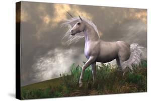 White Unicorn Stallion by Corey Ford