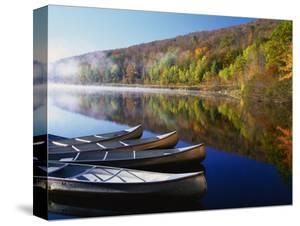Canoes on a Rural Lake by Darrell Gulin