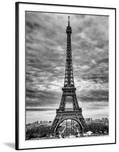 eiffel tower paris france black and white photography - Eiffel Tower Picture Frame