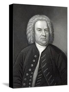 Portrait of Johann Sebastian Bach, German Composer (Engraving) by Elias Gottleib Haussmann