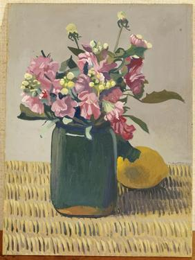 A Bouquet of Flowers and a Lemon, 1924 by F?lix Vallotton