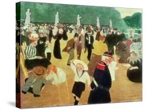 The Luxembourg Gardens, 1895 by F?lix Vallotton