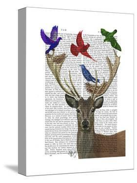 Deer and Birds Nests by Fab Funky