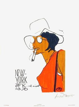 La cigarette - New-York JFK 09.70 by Florent Margaritis