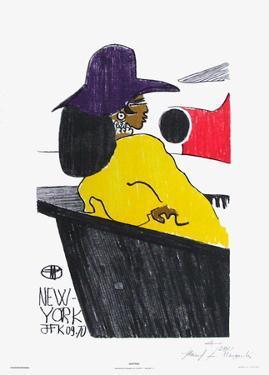Waiting - New York Jfk 09.70 by Florent Margaritis