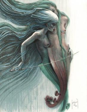 Femme violoncelle by Francis De Saint-genies