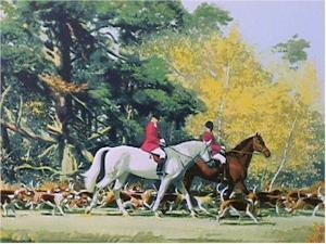 Going out with the Hounds by Frank Wootton