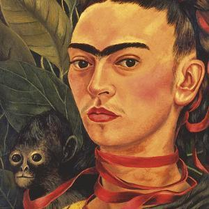 Self Portrait with a Monkey, c.1940 (detail) by Frida Kahlo