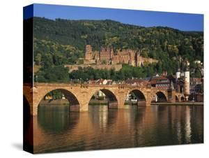 Heidelberg Castle, Alte Brucke and the River Neckar, Heidelberg, Baden Wurttemberg, Germany by Gavin Hellier