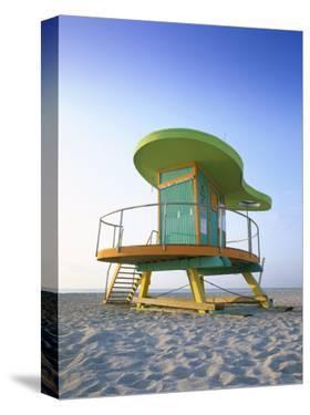 Lifeguard Hut in Art Deco Style, South Beach, Miami Beach, Miami, Florida, USA by Gavin Hellier