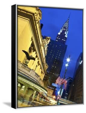 New York City, Manhattan, Grand Central Station and the Chrysler Building Illuminated at Dusk, USA by Gavin Hellier