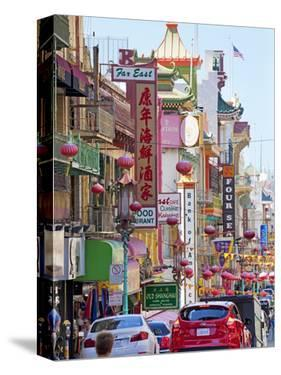 Street Scene in China Town Section of San Francisco, California, United States of America, North Am by Gavin Hellier