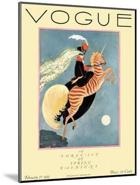 Vogue Cover - February 1927 - Flying Zebra by George Wolfe Plank