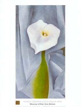 Calla Lilly On Grey by Georgia O'Keeffe