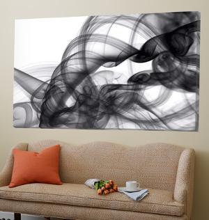 White Smoke Abstract by GI ArtLab