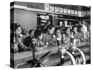 New Delight For the Balinese Dancing Girls in America is Ice Cream by Gordon Parks