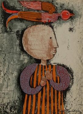 Enfant avec un oiseau I by Graciela Rodo Boulanger