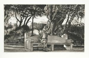 Man on Bench (B/W) by Harry McCormick