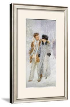 Lovers in a Snowstorm by Hélène Léveillée