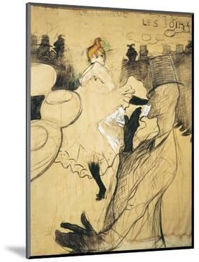 """La Goulue and Valentin Le Desosse at the """"Moulin Rouge"""" by Henri de Toulouse-Lautrec"""