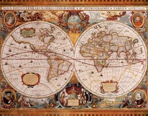 Antique maps posters and prints at art antique map geographica c1630henricus hondius gumiabroncs Images