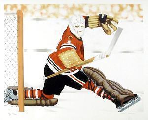 Blackhawk Goalie by Henry Gorski