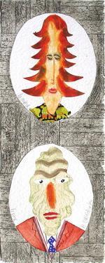 Famille : la mère et le père by Herve Di Rosa