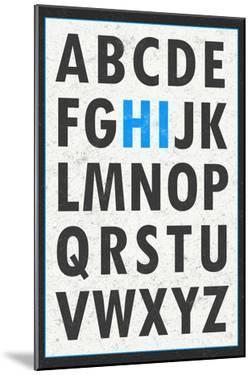 Hi Alphabet Blue