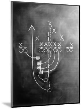 Football Play on Chalkboard by Howard Sokol
