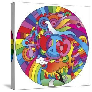 Peace Love Music Circle by Howie Green