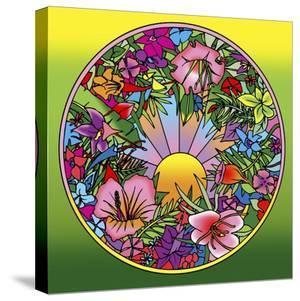 Pop Art Circle Flowers 615 by Howie Green